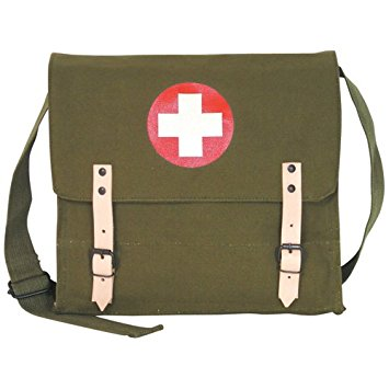Fox Outdoor Products German Medic Bag, Olive Drab