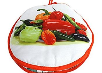 "FoodWarmer 12"" - Insulated Fabric Pouch - Keeps warm for one hour after just 45 microwave seconds (Peppers)"