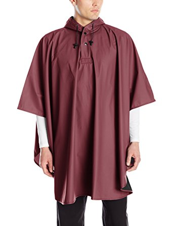 Charles River Apparel Men's Pacific Poncho, Maroon, One Size