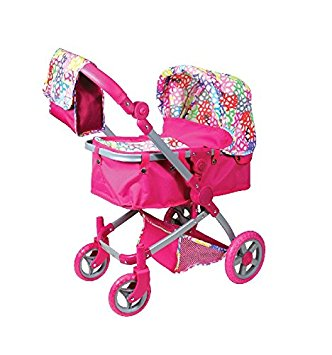City Stroller / Push Chair with Detachable carry cot - Rainbow