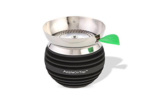 Apple on Top Hookah Bowl (Black)