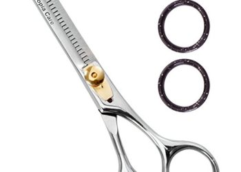 Professional Barber Thinning / Texturing Scissors/Shears (6.5 Inch) - Comfort Grip Triple Ring with Adjustable Tension and Finger Inserts - Professional Grade Texturizing Scissors - by Utopia Care