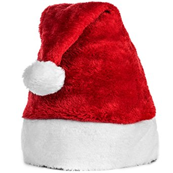Plush Baby Santa Hat w/ Comfort Liner Christmas Infant Newborn Photography Prop