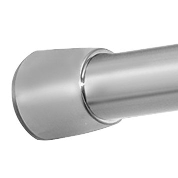 InterDesign Forma - Constant Tension Curtain Rod for Bathroom - Brushed Stainless Steel - Medium: 43 - 75 inches