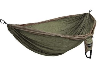 ENO Eagles Nest Outfitters - DoubleNest Hammock, Portable Hammock for Two, Khaki/Olive (FFP)