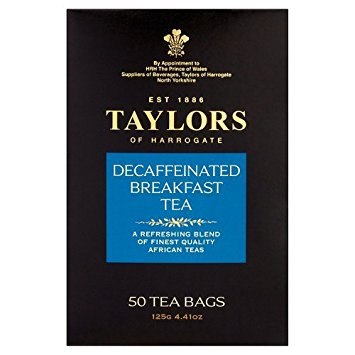 Taylors of Harrogate Decaffeinated Breakfast, 50 Teabags