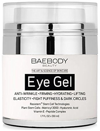 Baebody Eye Gel for Dark Circles, Puffiness, Wrinkles and Bags. - The Most Effective Anti-Aging Eye Gel for Under and Around Eyes - 1.7 fl oz