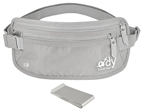 Money Belt for Travel- NON ITCH SOFT BACK - Anti-theft RFID Waist Wallet - Women & Men - Small /XXL