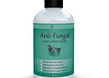 Antifungal Soap with Tea Tree Oil, Helps Treat & Wash Away Athletes Foot, Ringworm, Nail Fungus, Jock Itch, Body Odor & Acne. Antibacterial Defense Against Bacteria Related Skin Irritations 9oz.
