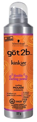 Got2b Kinkier Curling Mousse, 8-Ounce