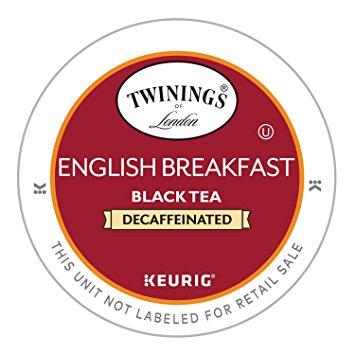 Twinings Decaf English Breakfast Tea, Keurig K-Cups, 24 Count