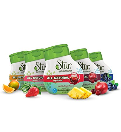 Stur All Natural Stevia Water Enhancer makes 100 8-ounce Servings, Pack of 5, 1.62 Ounce each
