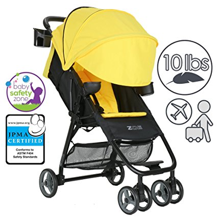 ZOE Umbrella XL1 Single Stroller, DELUXE - Yellow