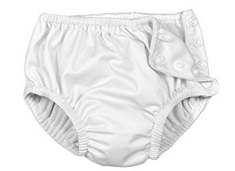 i play. Baby Toddler Ultimate Reusable Snap Swim Diaper, New White, 2T-3T