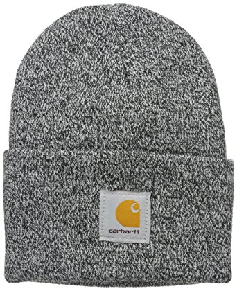 Carhartt Men's Acrylic Watch Hat A18, Black/White, One Size