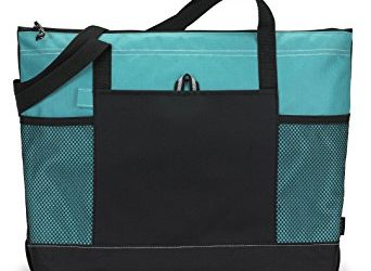 Bodek And Rhodes 80279480 1100 Gemline Select Zippered Tote Turquoise - One