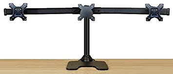 "EZM Deluxe Triple Monitor Mount Stand Free Standing Supports up to 3 28"" (002-0020)"