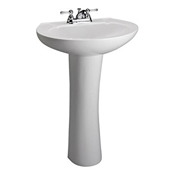 Barclay 3-201WH Hampshire 450 Pedestal Lavatory in White