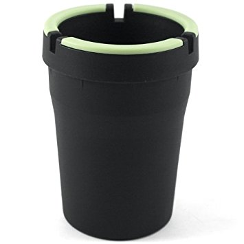 Stub Out Glow in the Dark Cup-Style Self-Extinguishing Cigarette Ashtray - Black