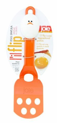 Joie Lil' Flip Egg Spatula, Heat-Resistant Nylon, FDA Approved, 8-Inches x 2.25-Inches