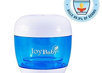 Joy Baby Portable UV Sterilizer, Cleaner and Sanitizer for Pacifiers and Baby Bottle Nipples (Arctic Blue)