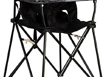 ciao! baby Portable Travel Highchair, Black