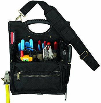 Custom LeatherCraft 1509 21-Pocket Zippered Professional Electricians Tool Pouch