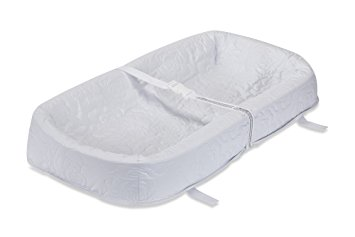 "LA Baby Waterproof 4 Sided Cocoon Changing Pad, 32"" - Made in USA. Easy to Clean Cover w/ Non-Skid Bottom, Safety Strap, Fits All Standard Changing Tables/Dresser for Best Infant Diaper Change"