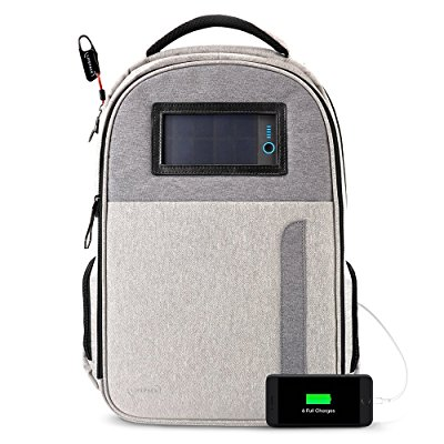 Lifepack Solar Powered and Anti-Theft Backpack with laptop storage