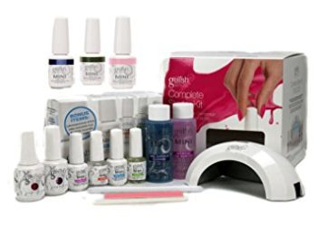 Gelish Harmony Complete Starter Led Gel Nail Polish Kit with 5 Additional Colors