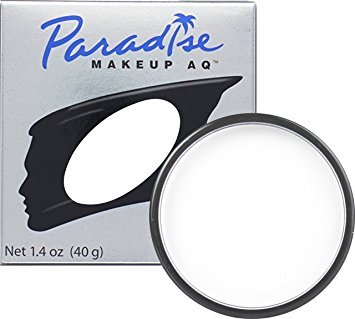Mehron Makeup Paradise AQ Face & Body Paint, WHITE: Basic Series – 40gm