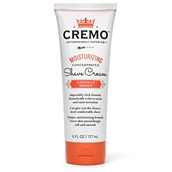 Cremo Coconut Mango Moisturizing Shave Cream, Astonishingly Superior Shaving Cream For Women, Reduces Nicks, Cuts And Razor Burn, 6 Ounces