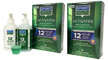 SmartMouth Alcohol-Free Mouthwash, Fresh Mint, 16 Ounce, (2 Pack)
