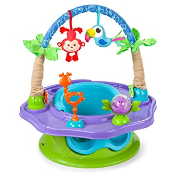 Summer Infant 3-Stage SuperSeat Deluxe Giggles Island: Positioner, Activity Seat, and Booster, Neutral