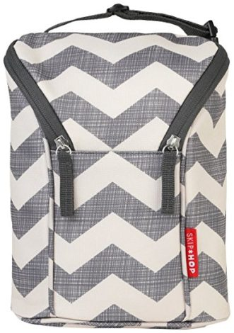 Skip Hop Grab-and-Go Insulated Double Bottle Bag, Chevron