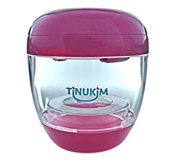 Tinukim Portable UV Sterilizer for Pacifier and Baby Bottle Nipples: Eliminates 99.9% of Bacteria and Germs (Pink)