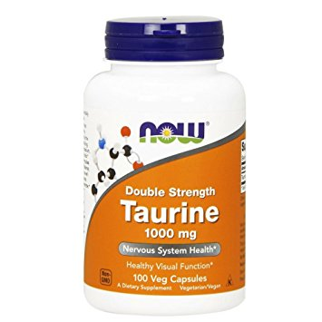 NOW Taurine 1000 mg,100 Veg Capsules