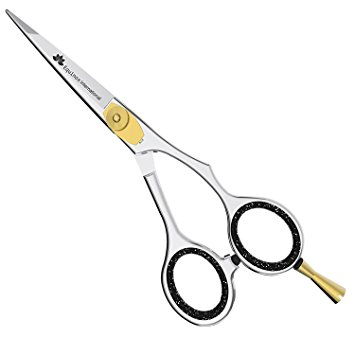 "Equinox Professional Razor Edge Hair Cutting Scissors/Shears - (6.5"") Adjustment Tension Screw, 100% Stainless Steel, Great For Salons, Barber-Shops, and Hair Enthusiasts"