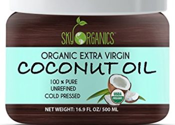 Organic Extra Virgin Coconut Oil by Sky Organics 16.9 oz- USDA Organic Coconut Oil, Cold-Pressed, Kosher, Cruelty-Free, Color Corrector, Unrefined- Skin Moisturizer, Hair Treatment & Baking