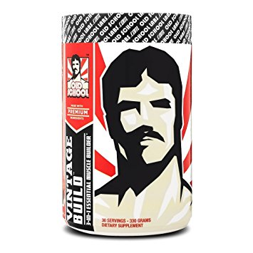 VINTAGE BUILD - The Essential 3-in-1 Muscle Builder - Post Workout Recovery with BCAA, Creatine Monohydrate, and L-Glutamine Powder (Fresh Berries), 330 Grams, 30 Servings