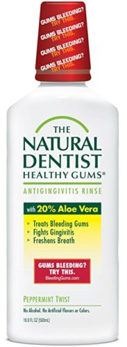 The Natural Dentist Healthy Gums  Antigingivitis Mouthwash to Prevent and Treat Bleeding Gums and Fight the Gum Disease Gingivitis - Peppermint Twist flavor, 16.9 oz.