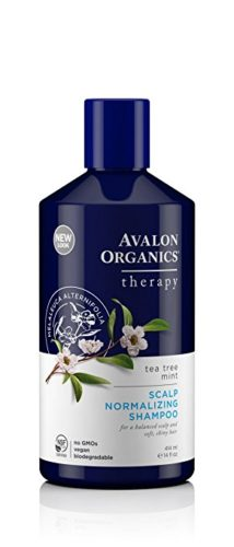Avalon Organics Tea Tree Mint Scalp Normalizing Shampoo, 14 Fluid Ounce