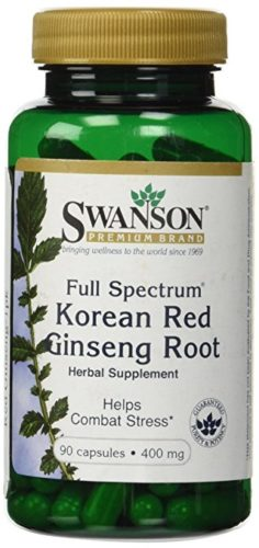 Swanson Premium Full-Spectrum Korean Red Ginseng Root 400 mg, 90 Capsules