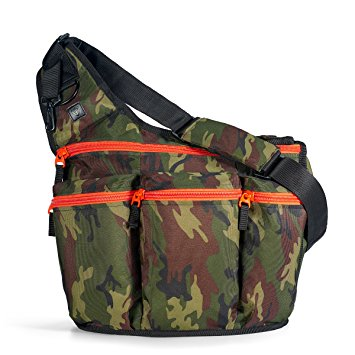 Diaper Dude Camouflage Diaper Bag with Changing Pad + Cross Body Messenger Bag for Men: The Perfect Gift for a New Dad